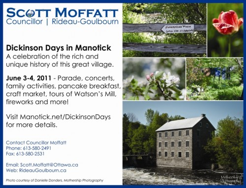 Manotick Messenger Ad featuring Mothership Photography
