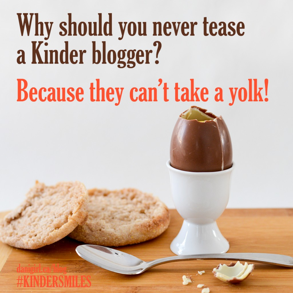 Joke: Why should you never tease a kinder blogger? Because they can't take a yolk.