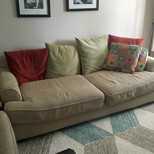 blog Ikea old pillows and sofa