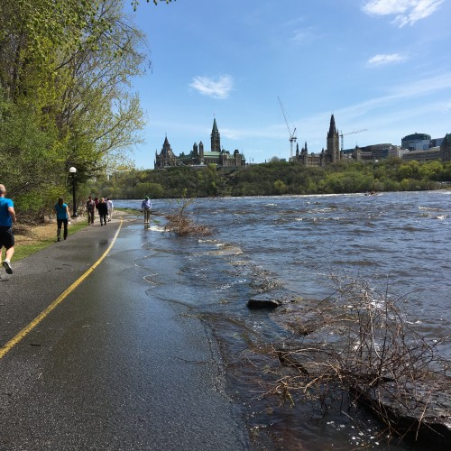 Photo of flooded bike path by Danielle Donders