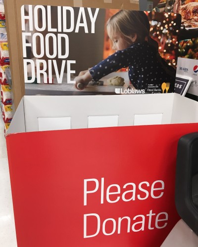Look for the donation bin at Lobaw food stores near you
