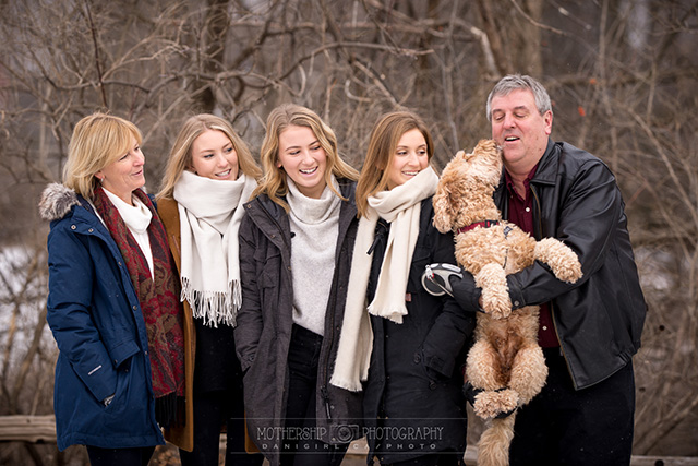 Family portrait with dog in Manotick