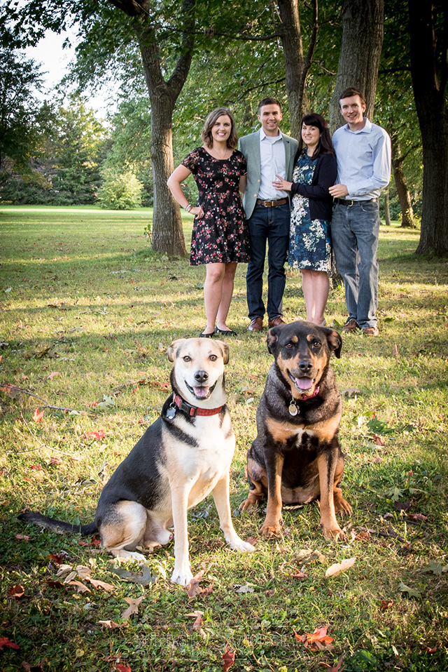 Wedding photography at the Manotick dog park