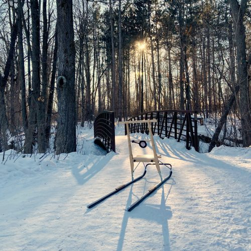 kicksled on ottawa trail
