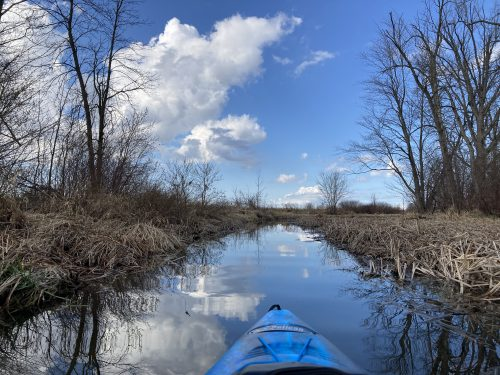 kayaking at Stevens Creek