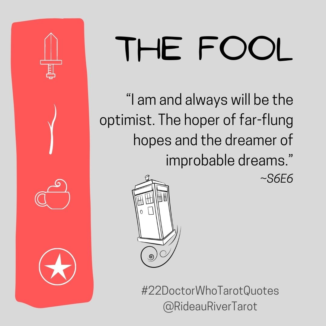 Doctor Who Tarot Quotes - The Fool