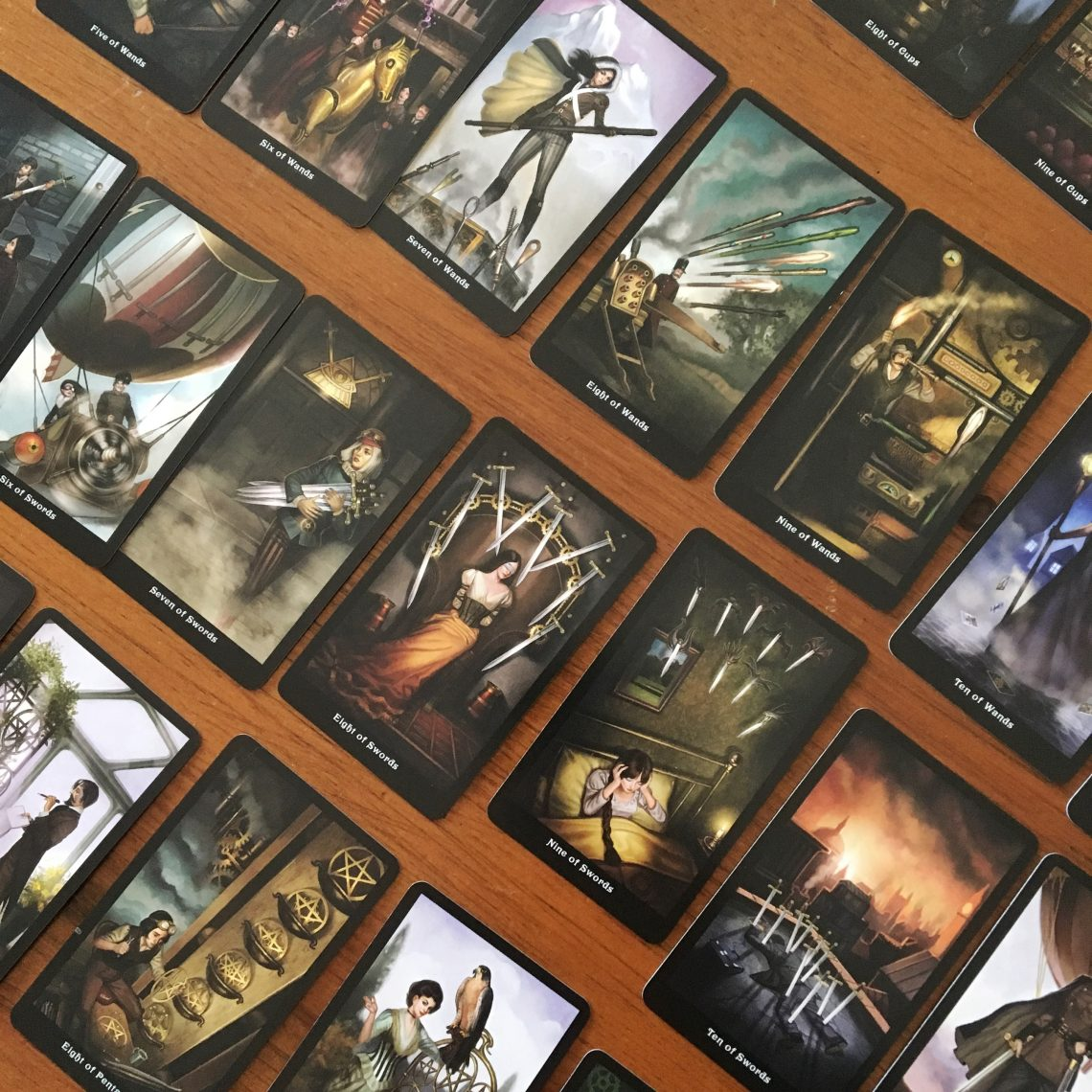 Steampunk tarot card deck review